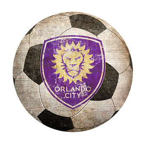 "Orlando City 12"" Soccer Shaped Sign"