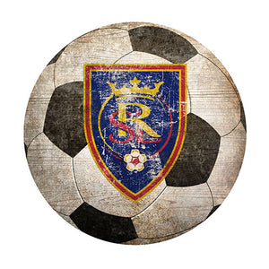 "Real Salt Lake 12"" Soccer Shaped Sign"