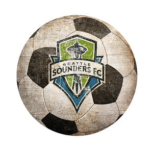 "Seattle Sounders 12"" Soccer Shaped Sign"