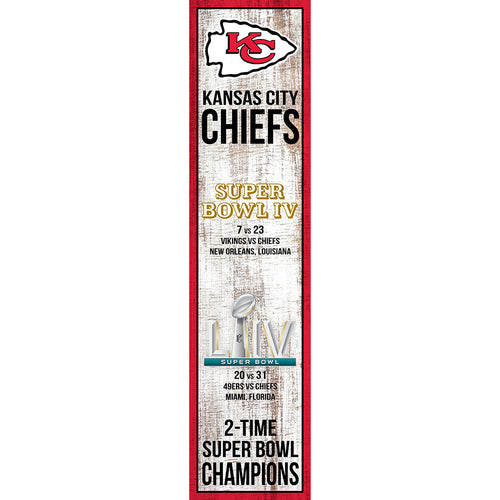 Kansas City Chiefs 2-Time Super Bowl LIV Champions 6x24