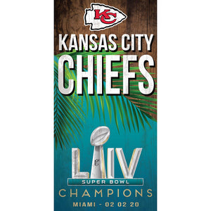 Kansas City Chiefs Super Bowl LIV Champions 6x12 Vertical
