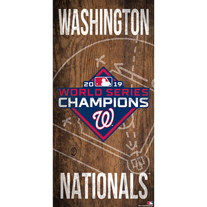 Washington Nationals: World Series Champions 6x12 Field Sign