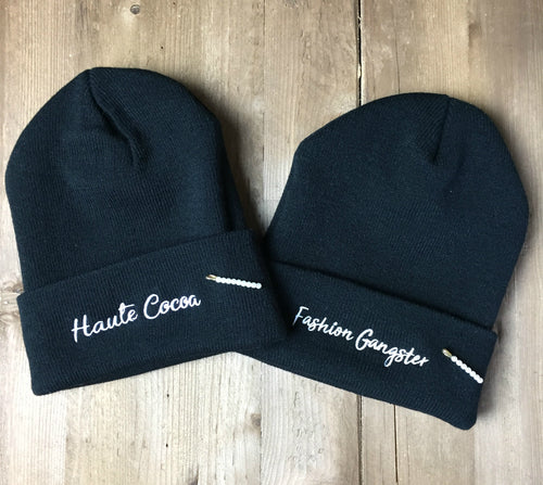 Embroidered Knit Beanies