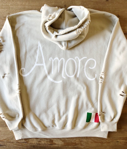 Hand Painted Amore Hoodie