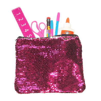 Rose Platinum Magic Sequin Pencil Case