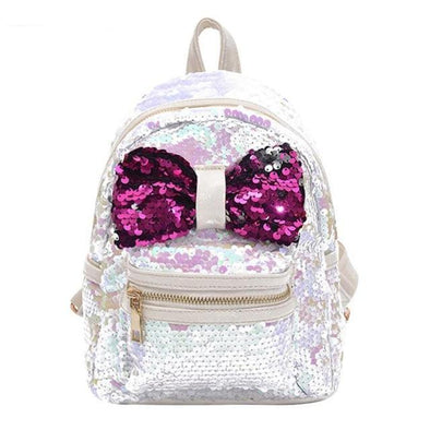 Glitter Bow Sequins Mini Back Pack - 4 Colors