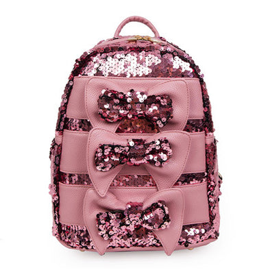Triple Bow Sequin Backpack - 4 Colors