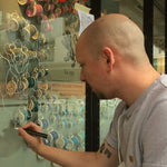 London Design Festival | Live art window mural by Chris Elfamoso