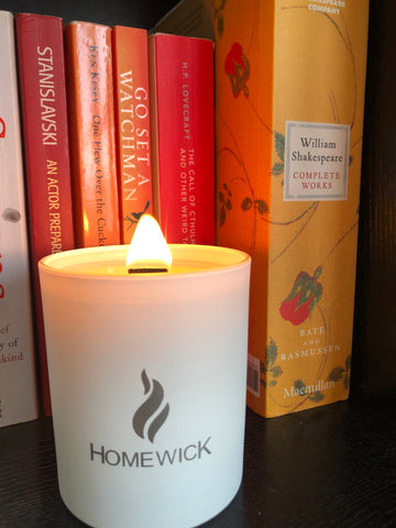 Homewick wooden wick candle