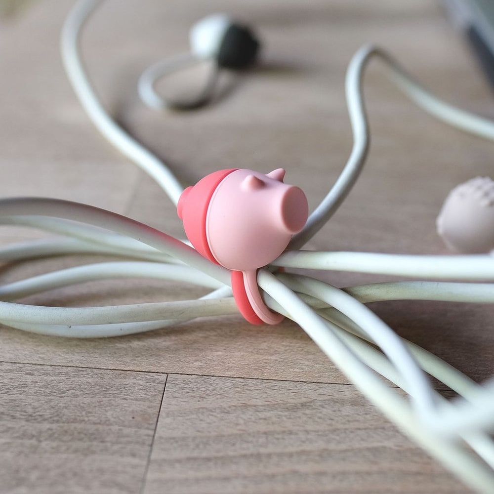 Cable Tie Wrap Zoo Animal Pig Pink