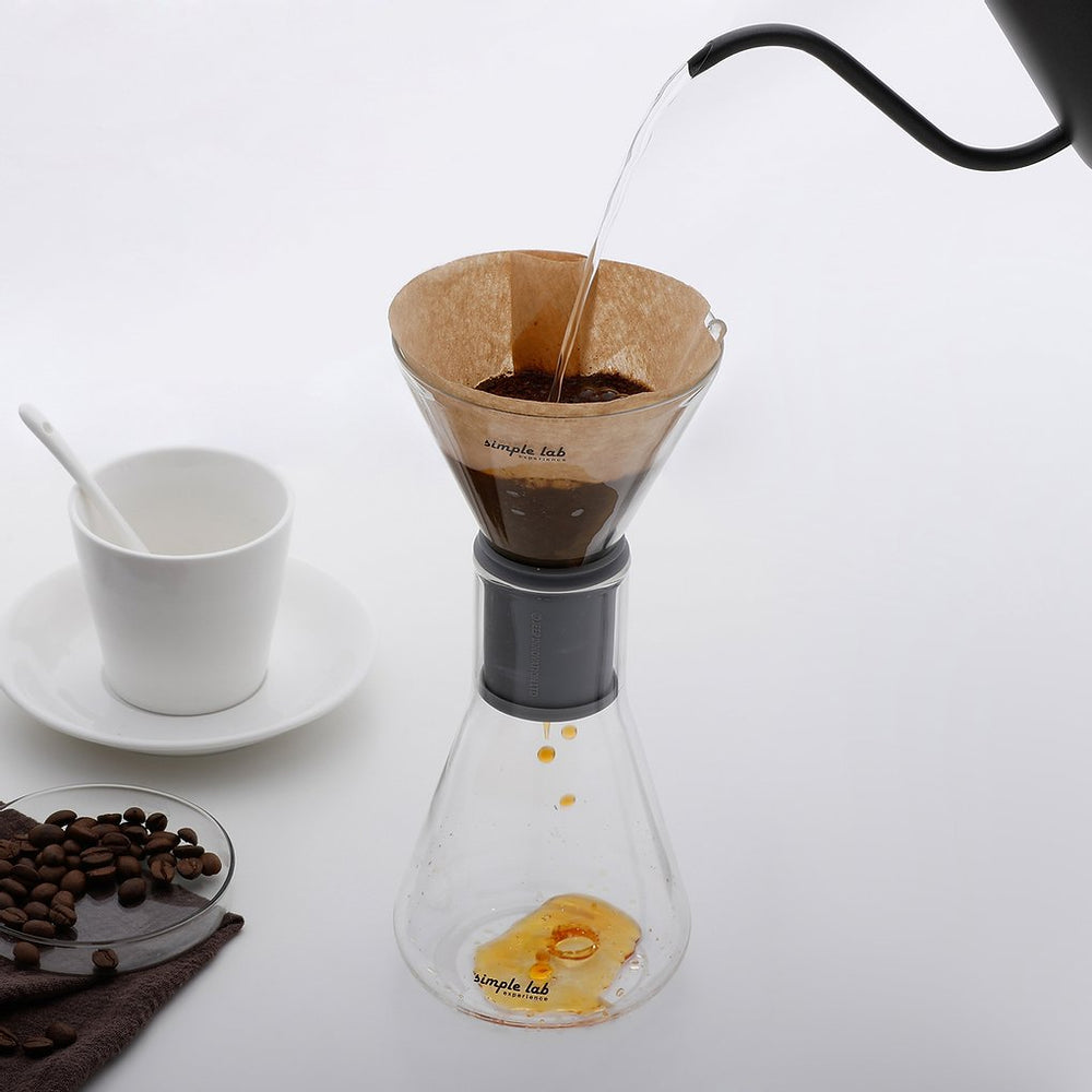 Load image into Gallery viewer, Coffee Set Mico Drip Brew Glass Beaker Filter Coffee