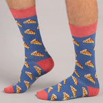 Socks Unisex Pizza Pink Blue