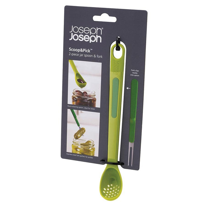 Scoop & Pick olive spoon and fork set Kitchen Joseph Joseph - Brand Academy Store