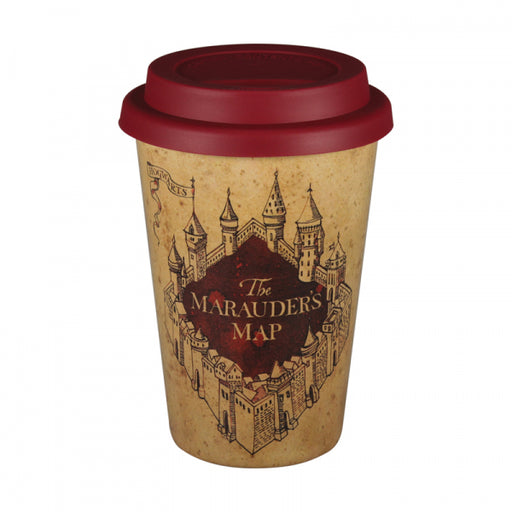 Harry Potter travel Eco-mug with Marauder's Map in beige