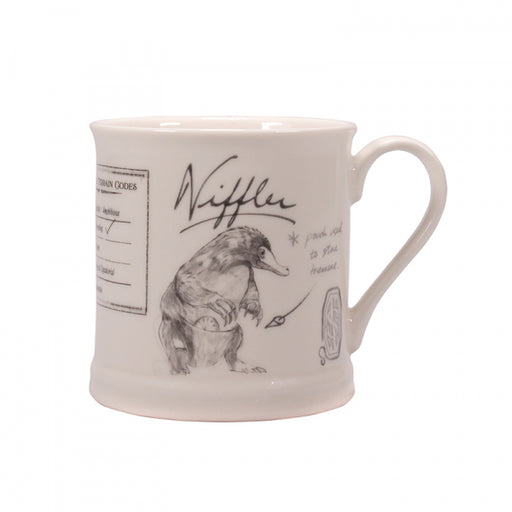 Harry Potter Fantastic Beasts Mug with a Niffler in cream