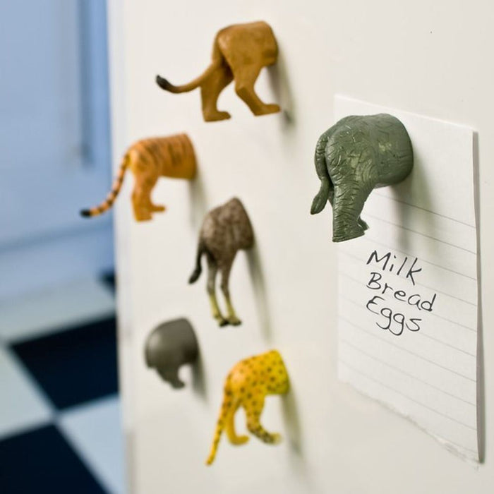 Safari butt magnets Stationery KIKKERLAND - Brand Academy Store