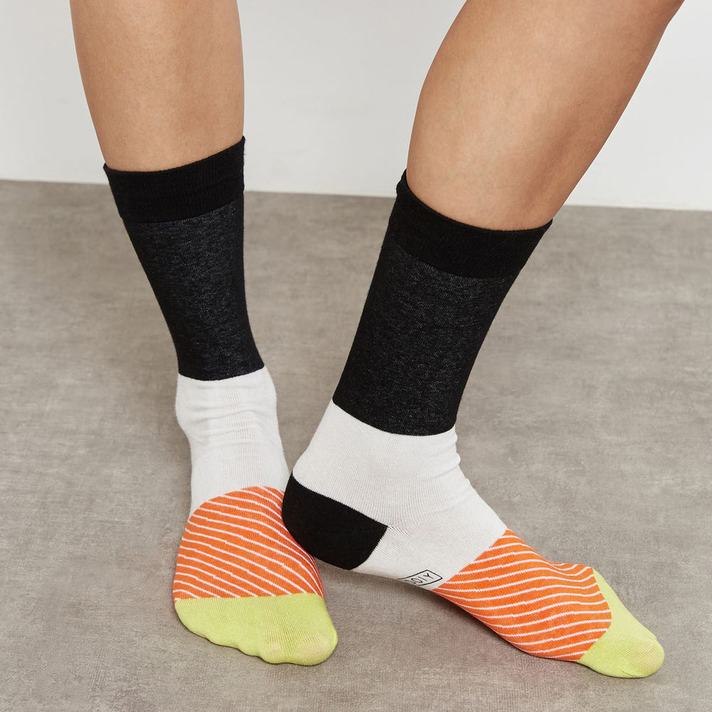 Load image into Gallery viewer, Socks Sushi Salmon Lovers Maki Multicolour