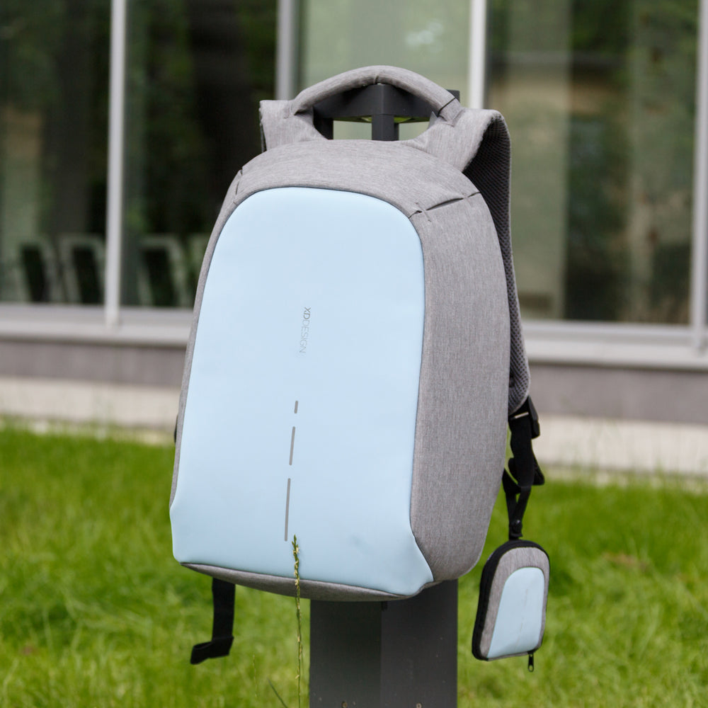 Pastel blue Bobby anti-theft backpack Accessories XD Design - Brand Academy Store