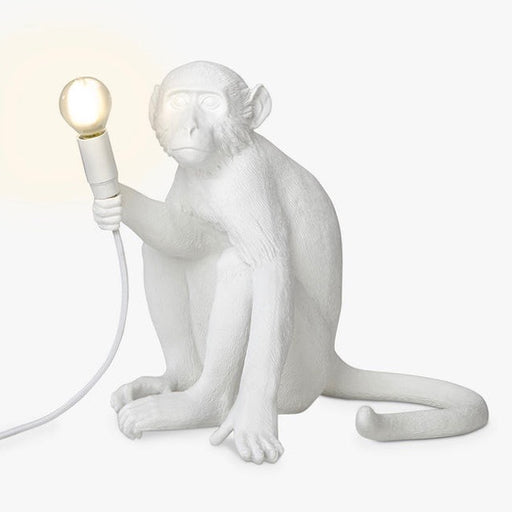 Seletti sitting monkey lamp light in white