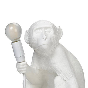 Load image into Gallery viewer, Seletti sitting monkey lamp light in white