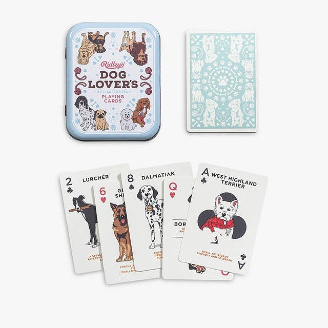 Playing cards for Dog Lovers by Ridley's in Cream