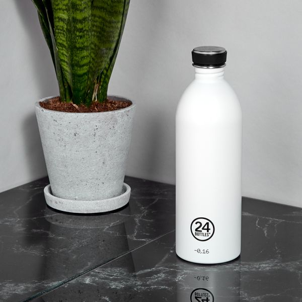 Water Bottle Lightweight 1L Ice White