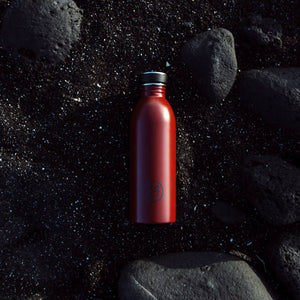 Water Bottle Lightweight 500ml Country Dark Red Stone