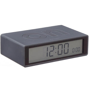 LCD Alarm clock 'Flip' On/Off in black