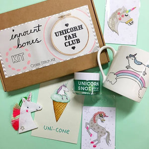 Mug with 'Magical Unicorn' in white by Gemma Correll