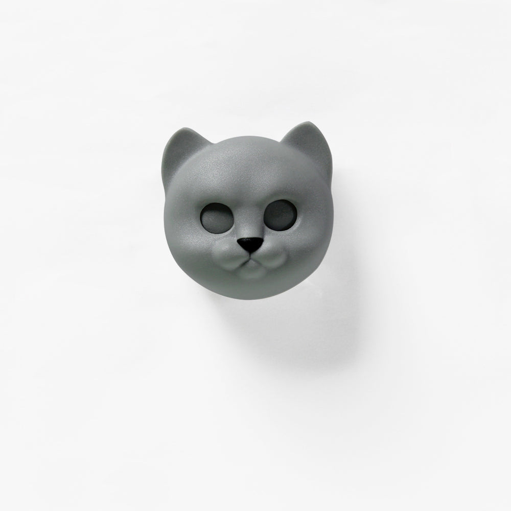 Load image into Gallery viewer, Keys holder wall mounted Neko Cat in grey