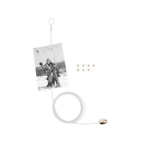 Magnetic cable photo holder in silver