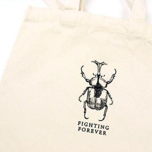 Load image into Gallery viewer, Glass Specimen Jar & Linen Tote Bag Fighting Forever (Beetle)