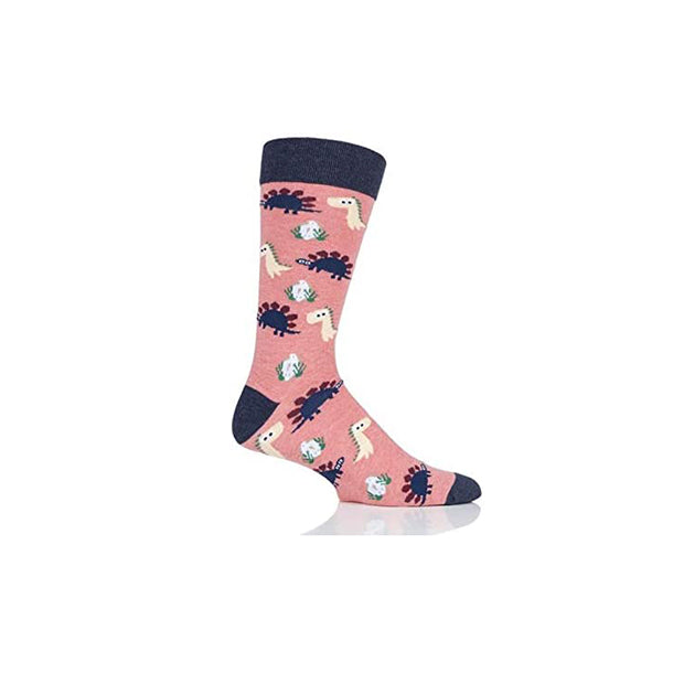 Load image into Gallery viewer, Socks Womens Chill Dinosaur Pink Navy