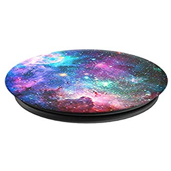Mobile accessory expanding hand-grip and stand Popsocket in space nebula print