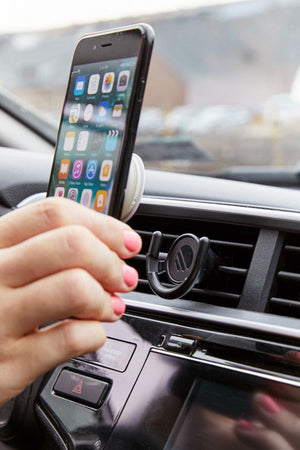 Car phone holder vent mount for PopSockets in black