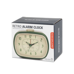 Bedside Alarm Clock Retro Green