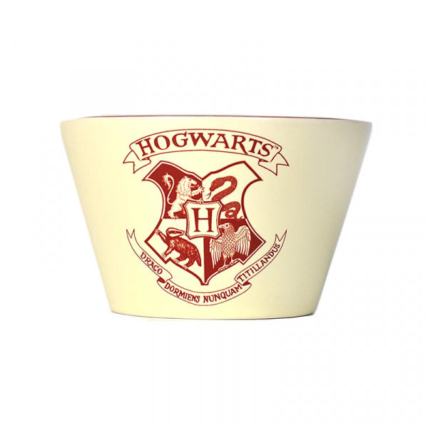 Harry Potter bowl with Hogwarts crest in cream