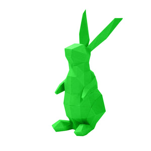 Load image into Gallery viewer, Wall Art DIY Papercraft Bunnies Model 3D Puzzle