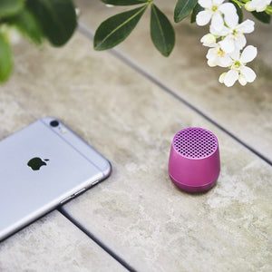 Ultra-portable bluetooth speaker in purple