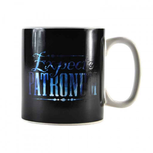 Harry Potter mug with heat changing Patronus Charm in black