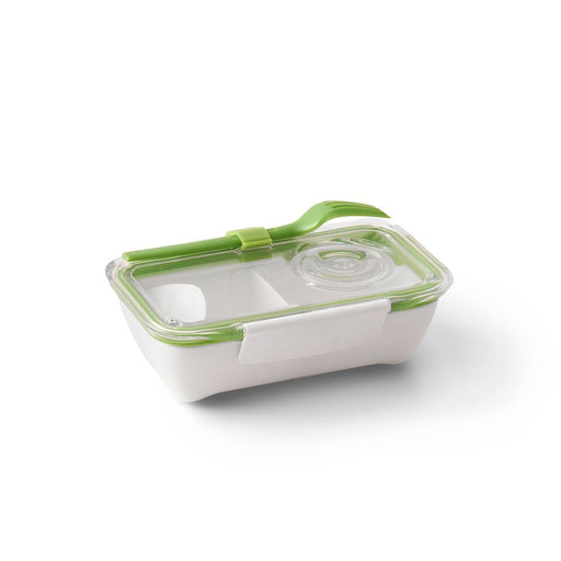 Bento lunch box with fork on the go in lime green