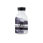 Water Bottle Lightweight 250ml Black and White Stripes