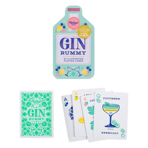 Playing cards with Gin drinks theme by Ridley's in white and green