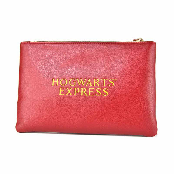 Harry Potter pouch with Hogwarts Express Platform 9 3/4 in maroon red