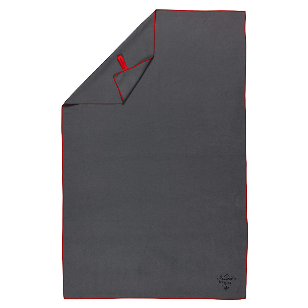 Travel microfiber towel quick dry and lightweight in grey