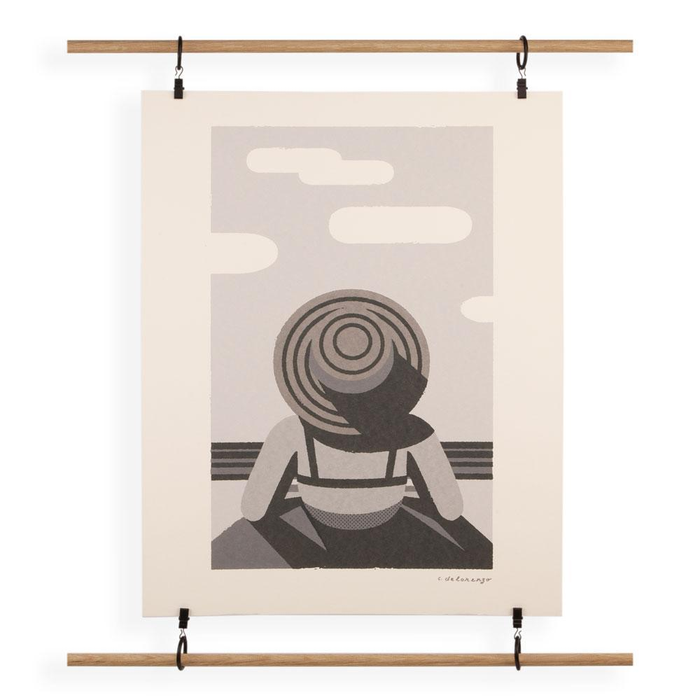 Load image into Gallery viewer, Beach lady screenprint poster artwork by Christopher DeLorenzo