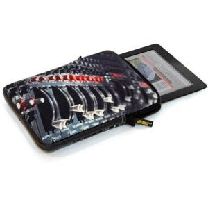 "9.5"" Tablet soft case with London Abbey Road print in dark grey"