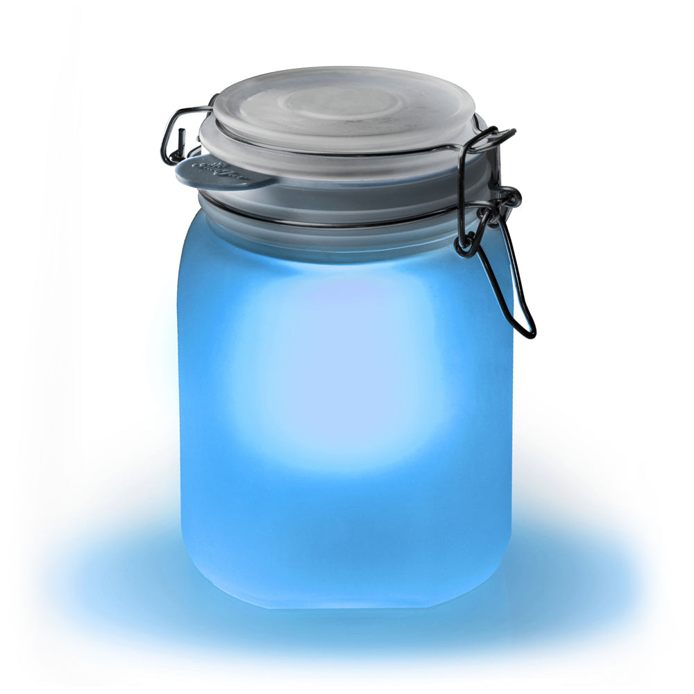 Load image into Gallery viewer, Sun Jar - Solar Powered Light Blue