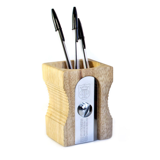 Sharpener Desk Tidy - Light Wood