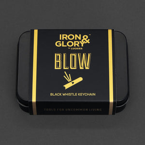 Whistle Keychain 'Blow' Iron and Glory Black